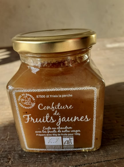 Confiture de fruits jaunes